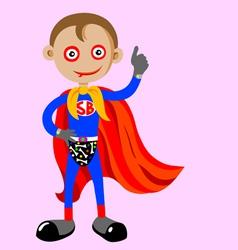 superboy vector image vector image