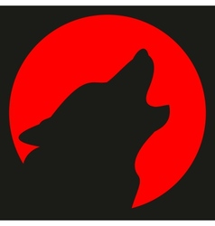 avatar wolf and moon vector image