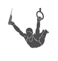 gymnastics rings sport vector image vector image