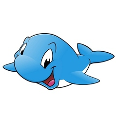 Happy Whale vector image vector image