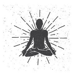 Meditation in the lotus position yoga vector