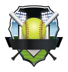 Softball Champs Badge Emblem vector image