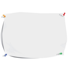 white paper sheet and pins vector image