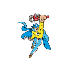 A janitor or plumber superhero vector