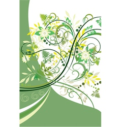 Abstract floral background element for design vector