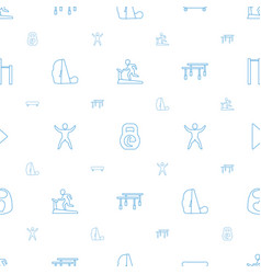 Active icons pattern seamless white background vector