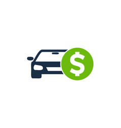 automotive money logo icon design vector image