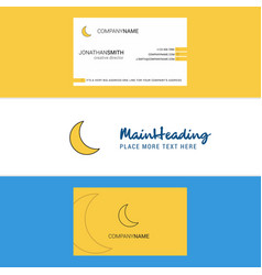 Beautiful cresent logo and business card vertical vector
