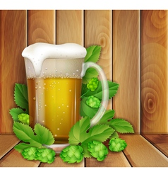Beer and hop vector