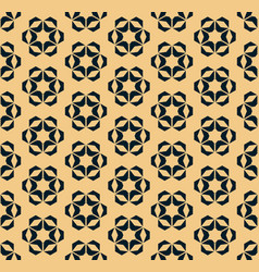 black and gold geometric floral seamless pattern vector image