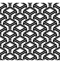 Black and white abstract geometric seamless 3d vector image vector image