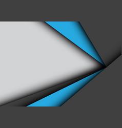 blue black arrow overlap on gray blank space vector image