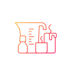 Candle making gradient linear icon vector
