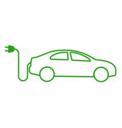 car icon outline design vector image