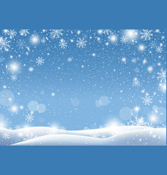 christmas background design of snow falling vector image