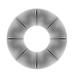 Circle lines pattern vector
