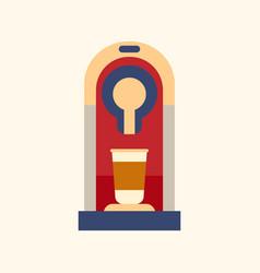 coffee machine icon flat style modern design vector image