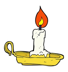 comic cartoon old candlestick vector image