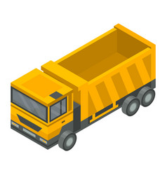 construction truck icon isometric style vector image
