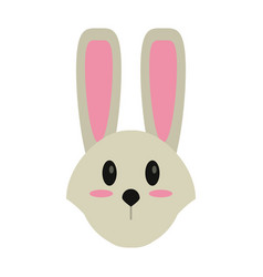 cute easter face bunny vector image