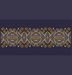 decorative floral stripe pattern ethnic paisley vector image