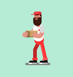 delivery sketch boy vector image