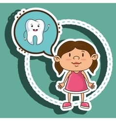 Dental care isolated icon design vector