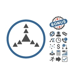 Direction Triangles Flat Icon With Bonus vector
