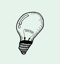 drawing of light bulb vector image
