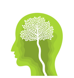 eco head vector image