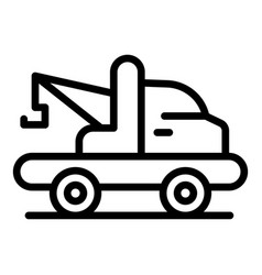 Emergency tow truck icon outline style vector