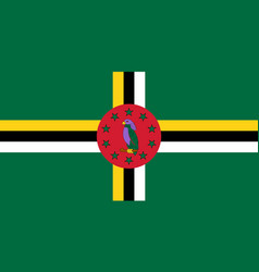 Flag commonwealth dominica official colors vector