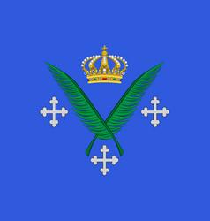flag of saint-etienne in loire of vector image