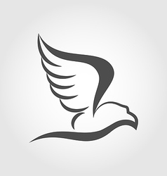 flying eagle in form stylized tattoo vector image