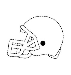 football helmet design vector image
