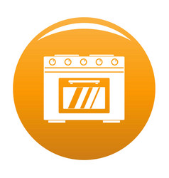 Gas oven icon orange vector