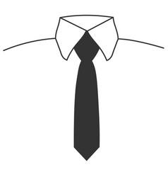gray tie icon vector image