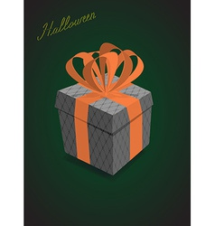 Halloween gifts black background vector image