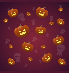happy halloween banner seamless pattern vector image