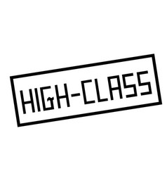 High-class stamp on white vector