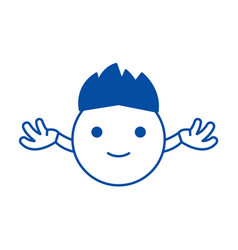 hippy emoji line icon concept hippy emoji flat vector image