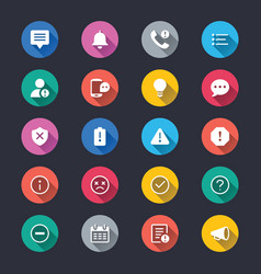 Information and notification simple color icons vector