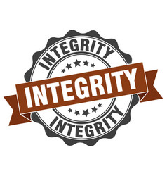 Integrity stamp sign seal vector