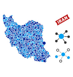 Iran map links composition vector
