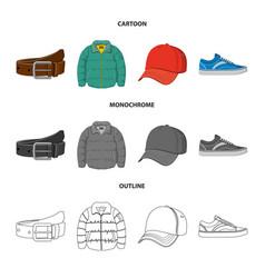 Man and clothing logo set vector