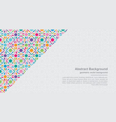 modern colorful geometry backgrounds vector image