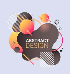 modern graphic element dynamical colored form vector image