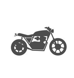 Motorcycle icon or sign vector