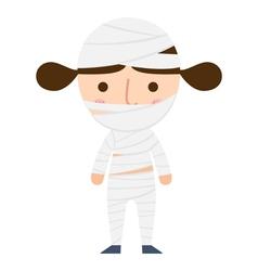 mummy girl vector image