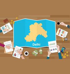 New delhi india capital city region economy vector